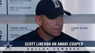 Scott Linehan on Ways to Use Amari Cooper More | Dallas Cowboys 2018