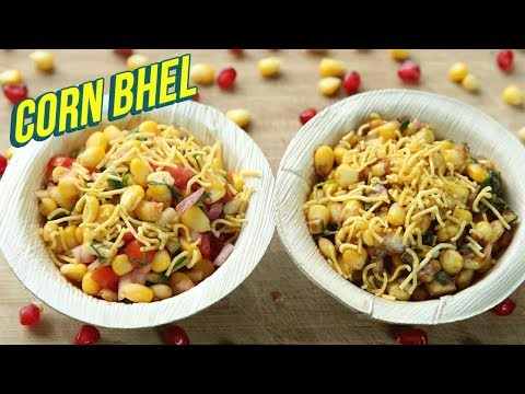 Corn Bhel Recipe In 2 Ways – How To Make Sweet Corn Chaat – Healthy Chaat Recipe – Nupur Sampat