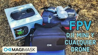 ???? FPV CON Dji Mini + GAFAS FPV MOVIMASK DJI MINI cualquier drone hubsan Zino mini pro, Fimi X8 mini
