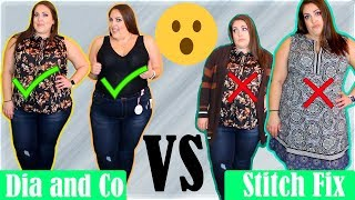 DIA AND CO VS STITCH FIX | THE RESULTS WERE NOT GOOD 😡| PLUS SIZE TRY-ON