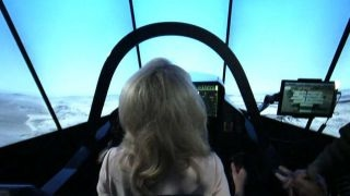 LOCKHEED MARTIN - US Air Force demonstrates Lockheed Martin F-35 simulator