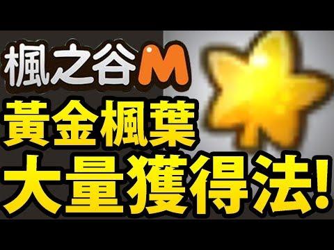 【楓之谷M】阿紅實況 ►『洗出大量黃金楓葉!』缺楓葉的看過來!【油王限定】