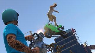 Паркур Прыжки На Мотоциклах По Зданиям На Здания! (GTA 5 Смешные Моменты)