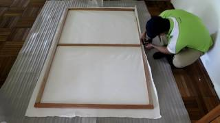 How To Make Large Canvas  Without Canvas Fabric | DIY Large Canvas Frames
