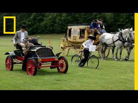 Horses vs. Horsepower: Watch Historic Rides Race Each Other | National Geographic thumbnail