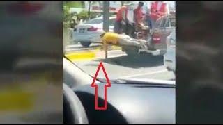 Дураки и дороги. В Бразилии показали, как нужно красить поребрик. Дураки на дорогах