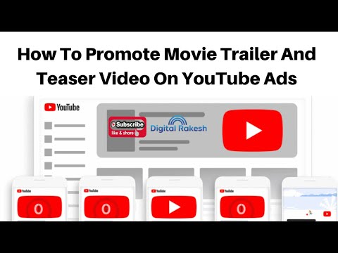 How to promote movie trailer and teaser video on YouTube Ads