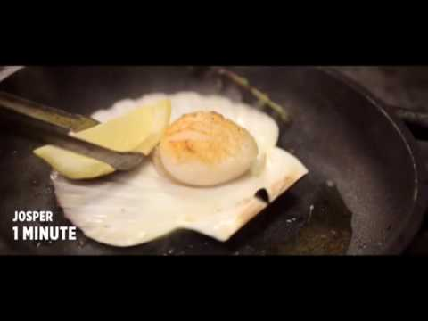 Video Diver scallop with nduja Charcoal oven - Engels