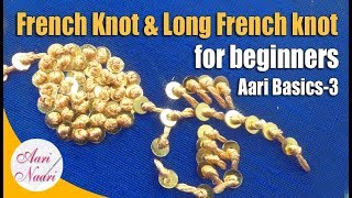 French Knot | How To Do French Knots Embroidery | Aari Work For Beginners | Aari Basic Stitch-3