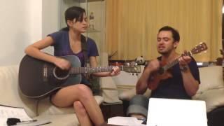 Adam & Jenny rehearsing Angus & Julia Stone's Black Crow