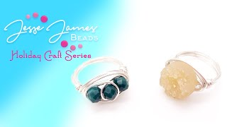 Holiday Craft Series: Wire-Wrapped Rings Tutorial