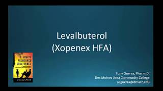 (CC) How to Pronounce levalbuterol (Xopenex HFA) Backbuilding Pharmacology