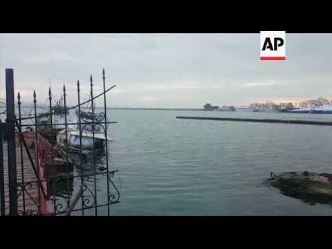 Ukrainian ships at harbour in Crimea after being seized by Russia