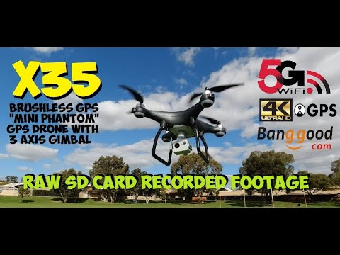 X35 GPS Drone 3 Axis Gimbal - SD Card Raw Footage from Flight Review