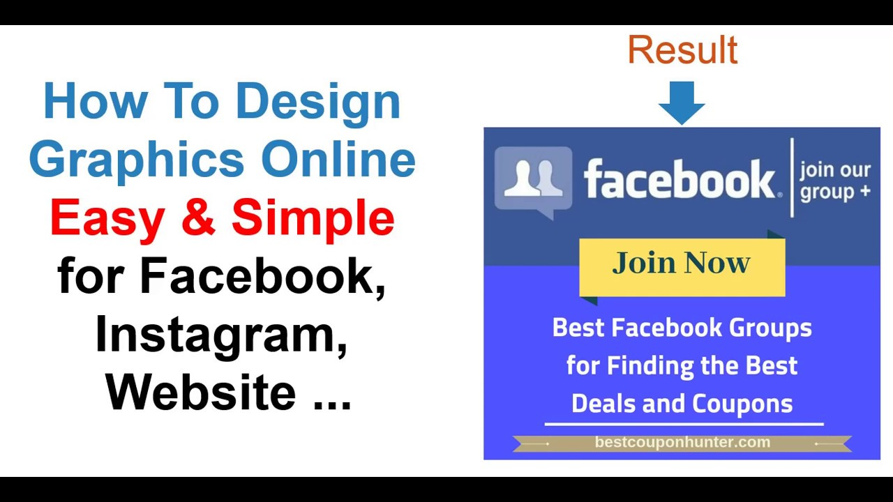 How To Design Graphics Online Easy & Simple for Facebook, Instagram, Website