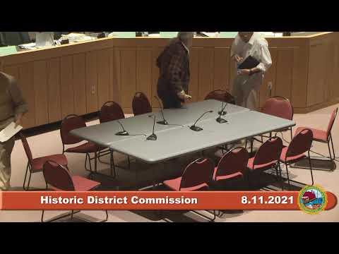 8.11.2021 Historic District Commission