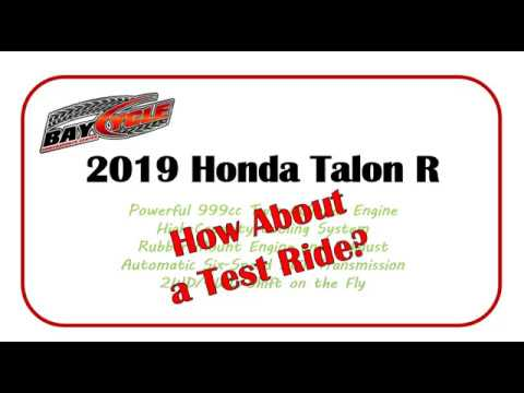 2019 Honda Talon 1000R at Bay Cycle Sales