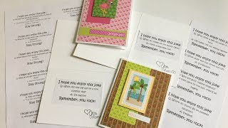 Finishing Off the Inside of Cards | Free Printable Jokes