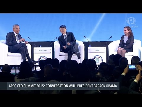 Watch Barack Obama get to be the interviewer for once (and do some business matchmaking)
