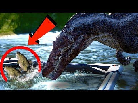 DINOSAURS CAN EAT FISH NOW?!?! | Jurassic World Evolution