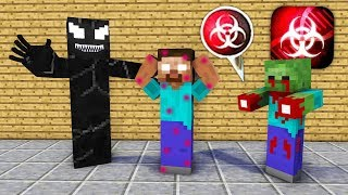 Monster School : Venom virus Plague Inc Apocalypse - Minecraft Animation