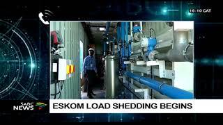 Eskom Load-shedding Stage 1 Begins