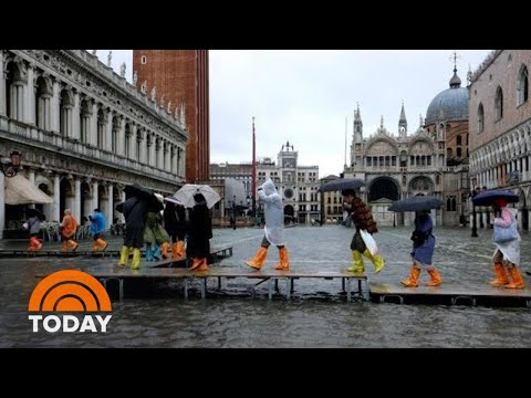 Venice Hit By Worst Flooding In 50 Years; See The Dramatic Images | TODAY