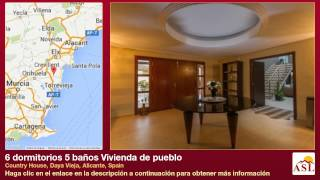 preview picture of video '6 dormitorios 5 baños Vivienda de pueblo se Vende en Country House, Daya Vieja, Alicante, Spain'