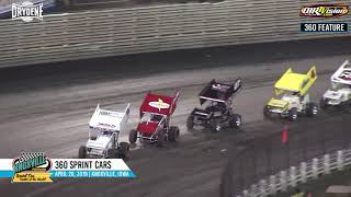 360 Sprint Car Highlights - April 20, 2019