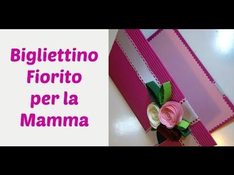 Biglietto Fiorito Rose di Carta -Flower card (Festa della mamma/Mother's day card)Arte per Te