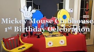 Mickey Mouse Clubhouse 1st Birthday Celebration| Tips| Games|Food|Gifts