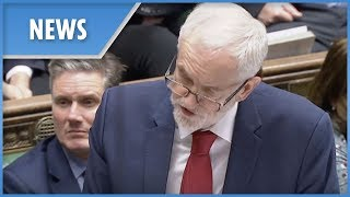 Jeremy Corbyn attacks absent Theresa May during emergency Parliament debate