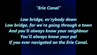ERIE CANAL Low Bridge Everybody Down 15 Fifteen Miles Years Mule Named Sal words lyrics SONG