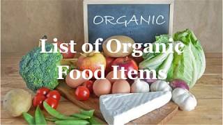 List of Organic Food Item