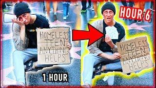 I Went HOMELESS For 24 Hours... How Much MONEY Did I Make!?