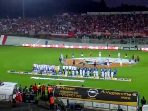 Varese – Sampdoria, l'inno nazionale ad inizio partita
