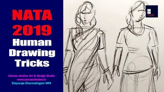 NATA 2019 - Human Drawing Tricks - CWADS NATA Coaching Centre CBE