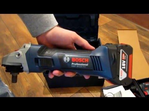 Unpacking/unboxing Dril Bosch GSR 18 V-LI + Angle Grinder GWS 18 V-LI + torch VariLED 0615990G12