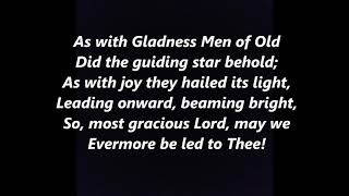 As with Gladness Men of Old CHRISTMAS EPIPHANY Carol LYRICS WORDS BEST TOP SING ALONG SONGS