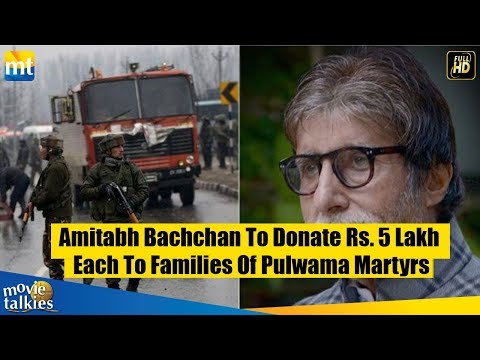 Amitabh Bachchan To Donate Rs. 5 Lakh Each To Fami