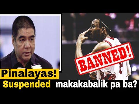 PINALAYAS NA!!Calvin Abueva Suspended na sa lahat ng PBA GAMES |PBA COMMISSIONER'S NEWS
