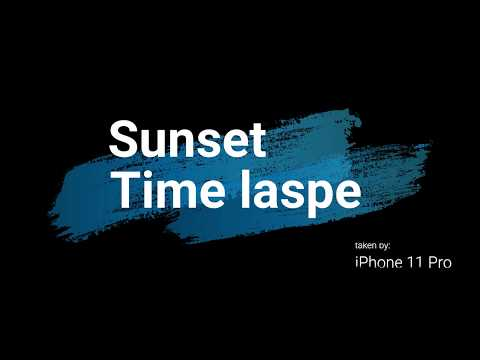 sunset time lapse - Oct2, 2019