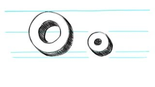 how to draw 3d letters o uppercase o and lowercase o in 90 seconds
