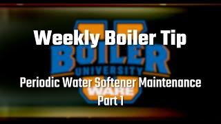 Periodic Water Softener Maintenance Part 1