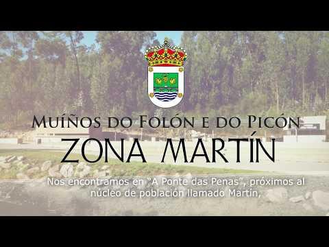 Muíños do Folón e do Picón - Zona de Martín - A Ponte das Penas . ES