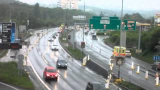 preview picture of video 'MO: MÚK se SJM - převedení provozu směr P9 do protisměru'