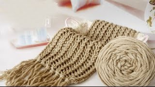 Hướng dẫn đan khăn kiểu 1#
