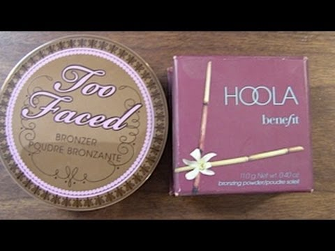 Review Too Faced Chocolate Bronzer and Benefit Hoola