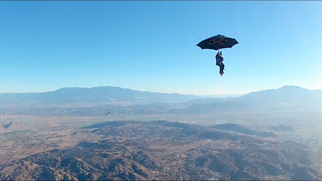 Watch What Happens When You Try To Skydive With An Umbrella