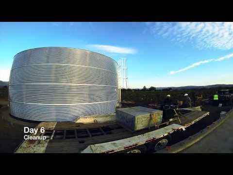 Classic Corrugated Galvanized Water Tank (67,900 G
